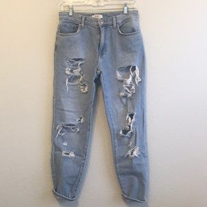 Forever 21 High Waisted Boyfriend Jeans